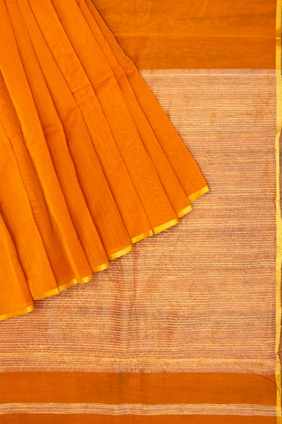 Golden mustard maheshwari saree