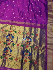 Purple Single Color Maharani Paithani