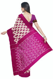 Bright pink pochampally saree