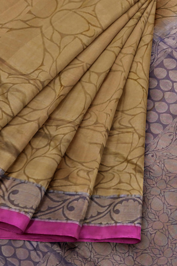 Moss green Kanjivaram silk saree