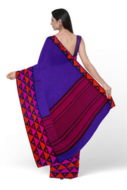 Purple cotton silk handloom saree