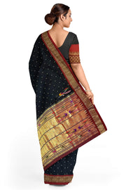 Black rich pallu silk paithani