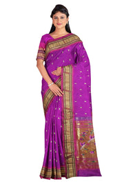 Magenta rich pallu paithani with pink border