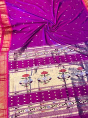 Purple rich pallu paithani