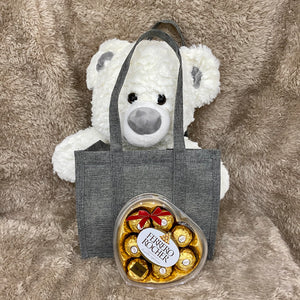 Snowy Teddy Bag