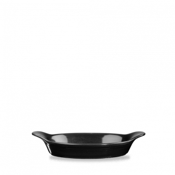 Intermediate Oval Eared Dish - 23.2 x 12.5cm - Color: Black