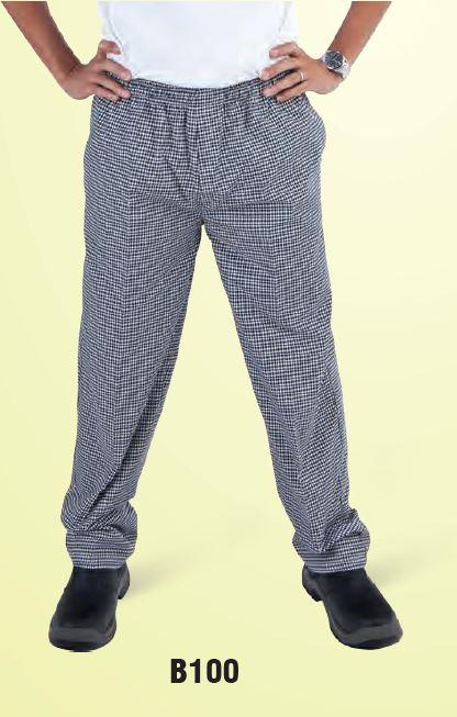 GLOBAL CHEF-DRAWSTRING PANTS - CHECK - LARGE