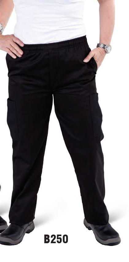 GLOBAL CHEF-CARGO - BLACK DRAWSTRING PANT - 4X LARGE