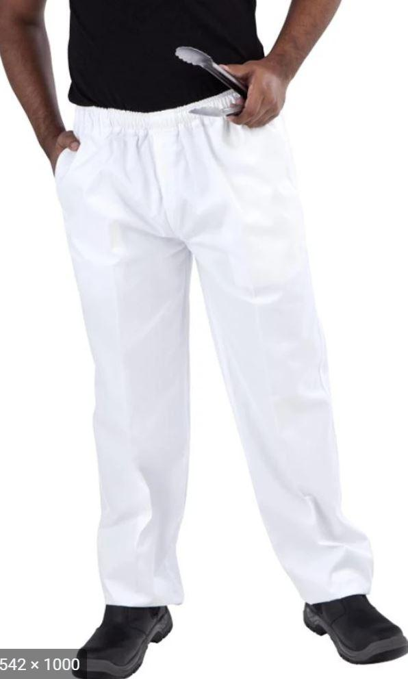 GLOBAL CHEF-WHITE DRAWSTRING PANT - 3X LARGE
