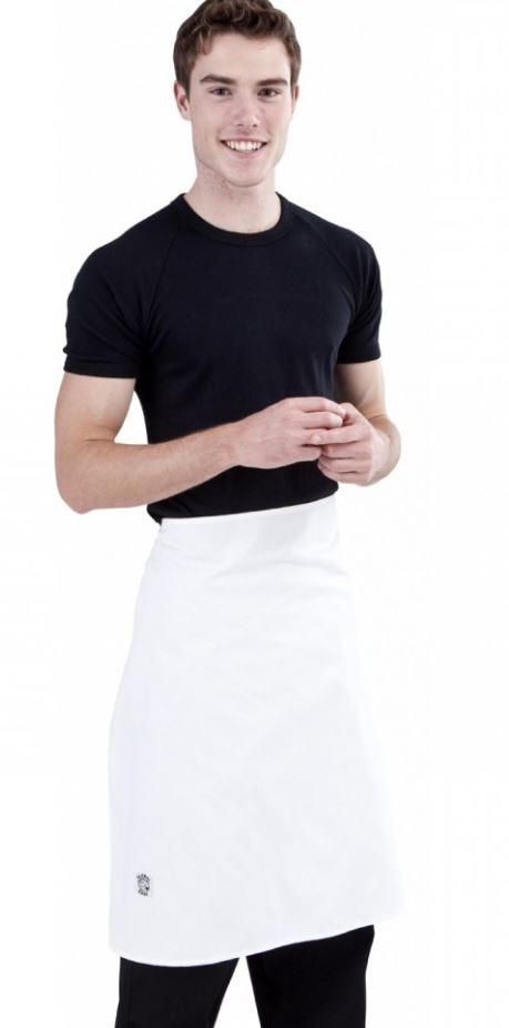 GLOBAL CHEF-APRON - 3/4 LONG - WHITE