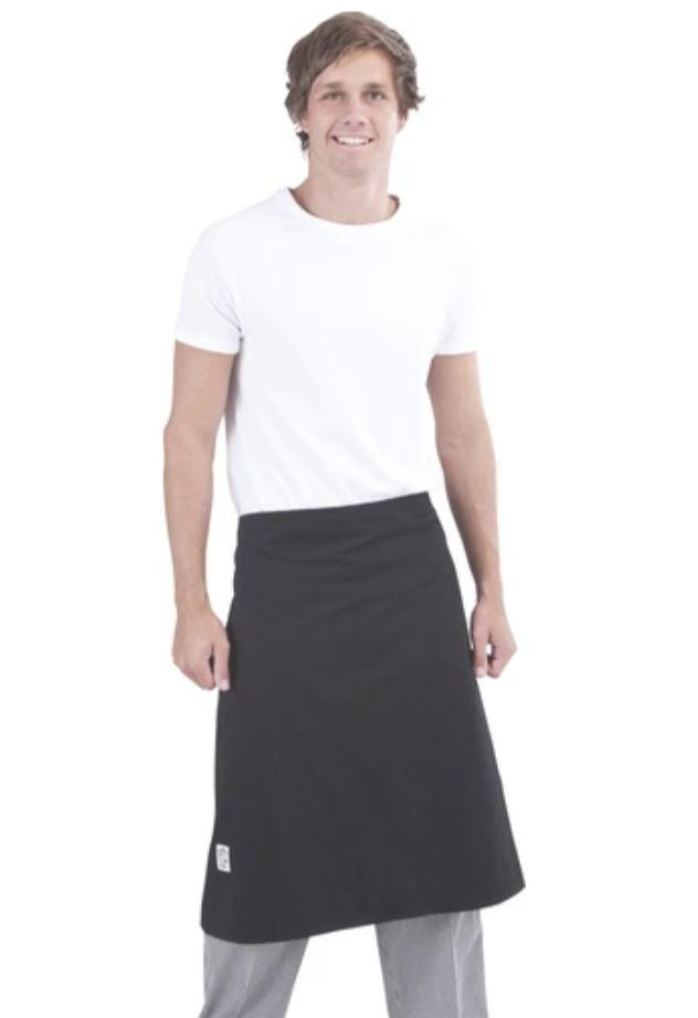 GLOBAL CHEF-APRON - 3/4 LONG - BLACK
