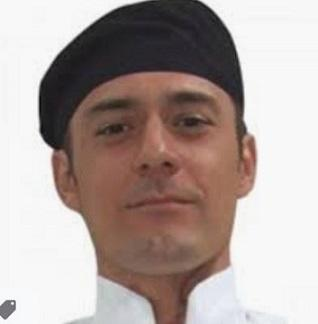 GLOBAL CHEF-FLAT TOP HAT - BLACK - LARGE