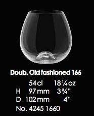 RONA-WINE SOLUTION DBL OLD FASHIONED 166 - 54CL - 18 1/4OZ [6pcs]