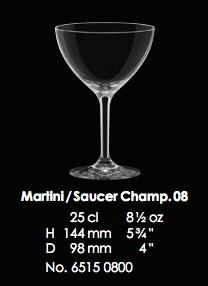 RONA-CLASSIC COCKTAILS MARTINI/SAUCER CHAMP 08 - 25CL - 8 1/2OZ [6pcs]