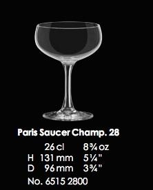 RONA-CLASSIC COCKTAILS PARIS SAUCER CHAMP 28 - 26CL - 8 3/4OZ [6pcs]