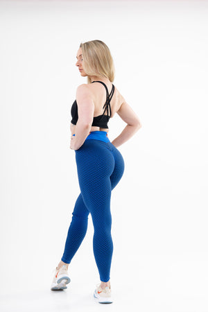 Legging Sport Anti Cellulite <br> Bleu