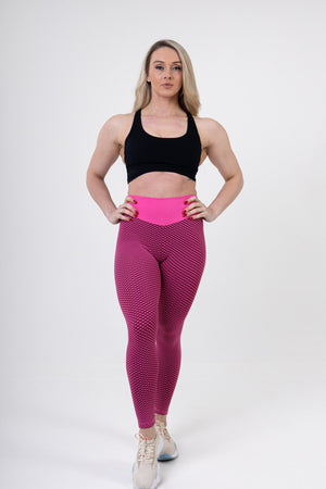 Legging Sport Anti Cellulite <br> Rose