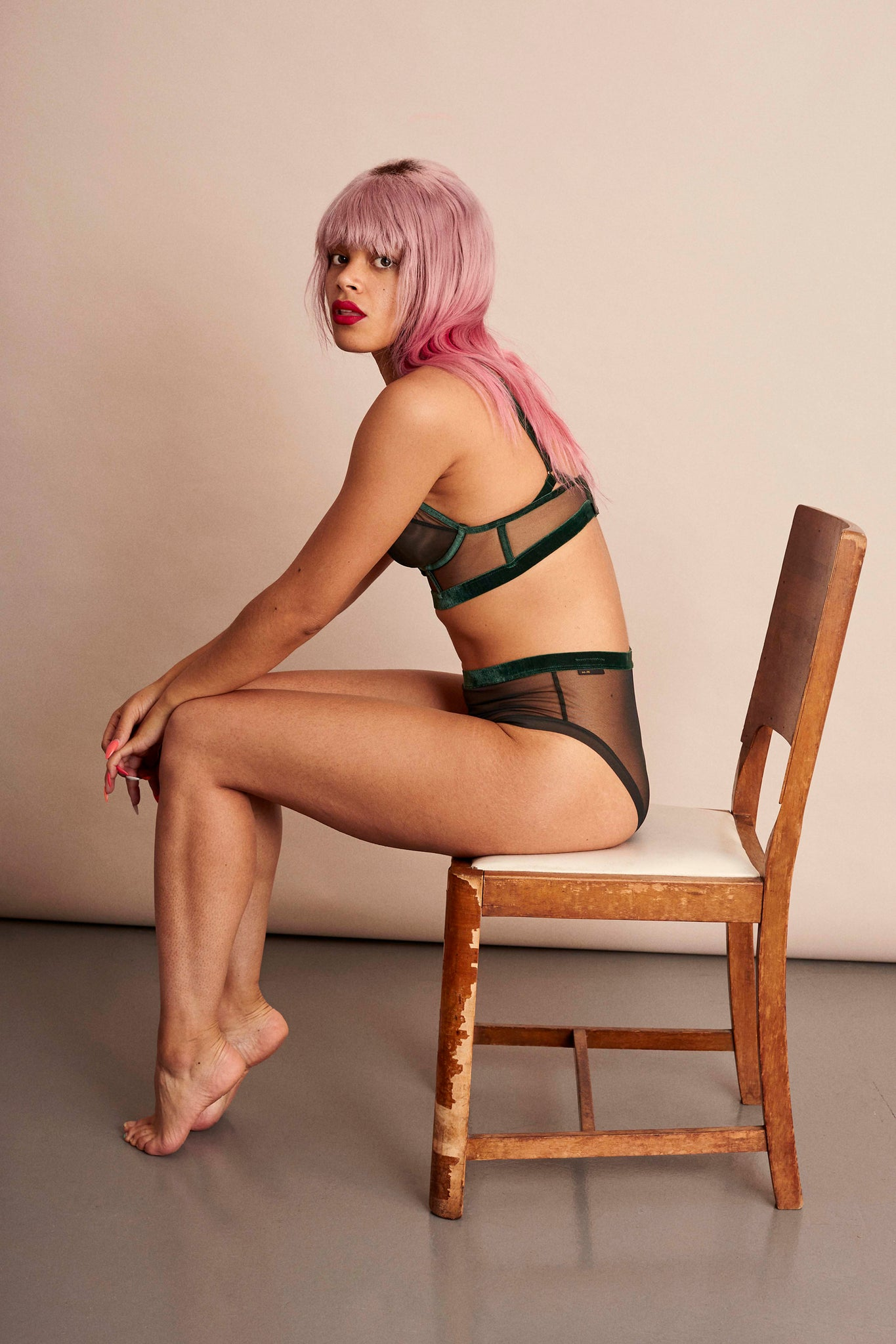 Keep showing up - LONGLINE TRIANGLE BRA