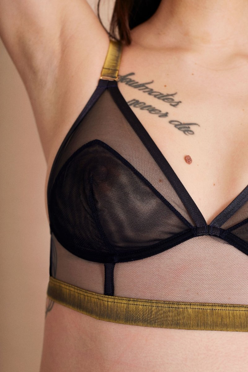 Follow the signs - LONGLINE TRIANGLE BRA - Longline Triangle Bra - theunderargument.com