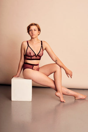 Love stands up for what's right - LONGLINE TRIANGLE BRA - Longline Triangle Bra - theunderargument.com