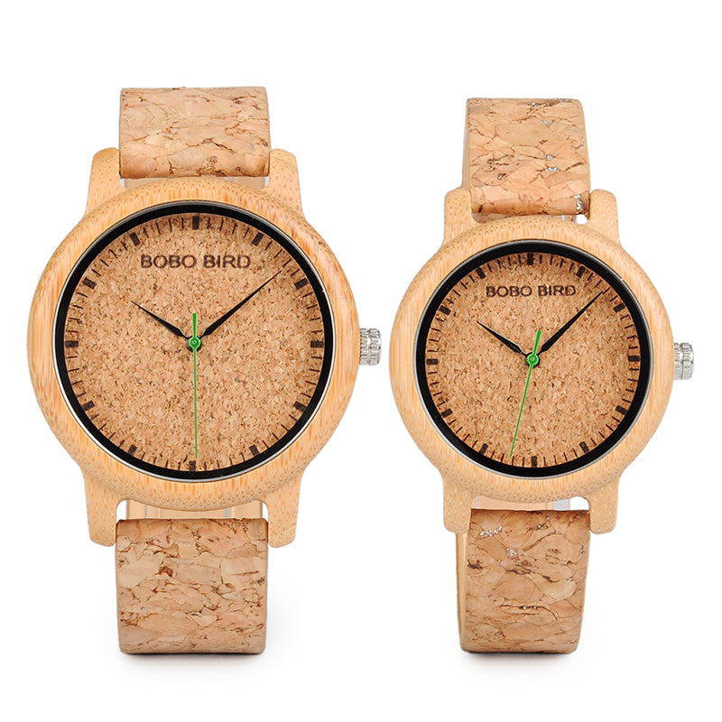 Cork Strap Bamboo Watch