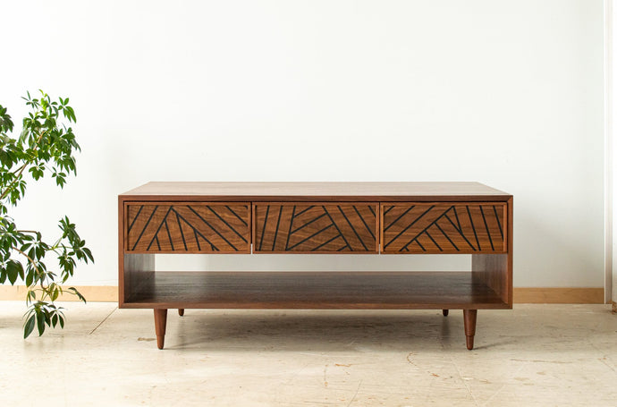 SLW Coffee Table - modern walnut coffee table