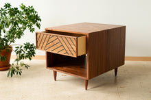 Load image into Gallery viewer, SLW Side Table - modern walnut side table & nightstand
