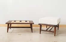 Load image into Gallery viewer, Danish Modern Footstools | walnut ottomans