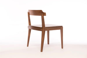 Low-Back Dining Chair | walnut accent chair