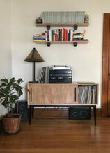 Load image into Gallery viewer, Record Cabinet | sliding door sideboard