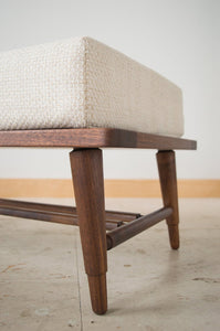 Danish Modern Footstools | walnut ottomans