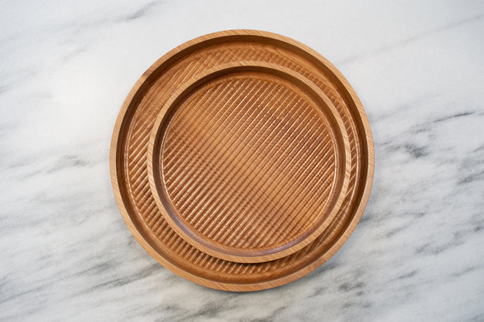 Fluted Tray | round serving tray