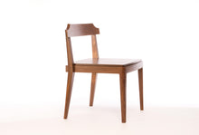 Load image into Gallery viewer, Low-Back Dining Chair | walnut accent chair