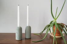 Load image into Gallery viewer, Cast Concrete Candle Holders