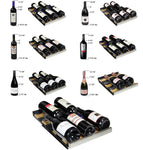 FlexCount 30 Bottle Dual Zone Black Right Hinge Wine Refrigerator