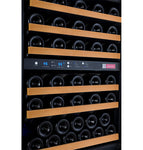 "24"" Wide FlexCount II Tru-Vino 56 Bottle Dual Zone Black Left Hinge Wine Refrigerator"