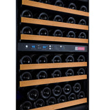 "24"" Wide FlexCount Series 56 Bottle Dual Zone Black Left Hinge Wine Refrigerator"