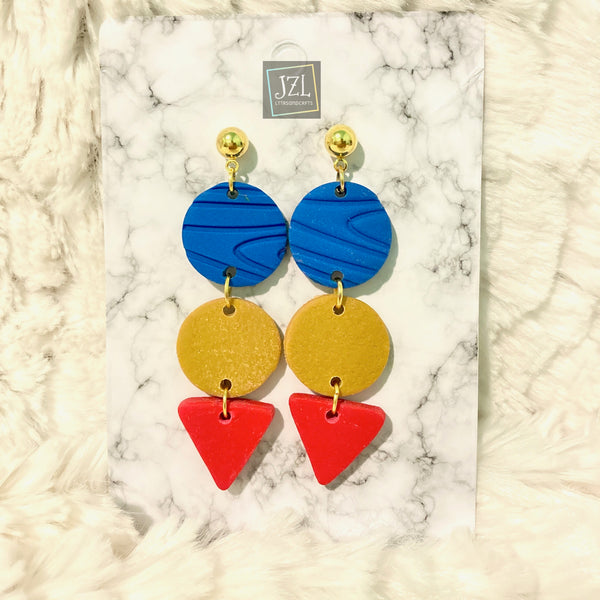 Philippine-Inspired Clay Earrings Handmade by JZL(SHIPPING ONLY)