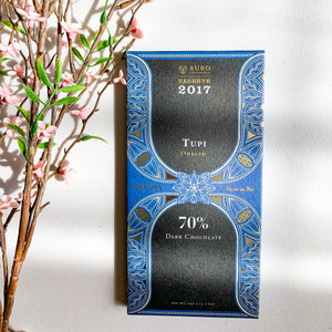 AURO TUPI 70% DARK CHOCOLATE RESERVE BAR 2018-60G