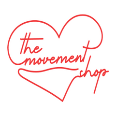 The Movement Shop Logo that is a red heart and the words