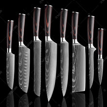 Load image into Gallery viewer, Professional Chef Japanese Knife Set-9 Piece