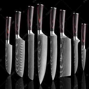 Professional Chef Japanese Knife Set-9 Piece