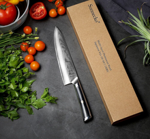 "Load image into Gallery viewer, Professional 8"" VG10 Damascus Steel Chef Knife W/Gift Box"
