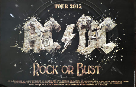 AC/DC - Rock Or Bust 2015 Tour Poster (87.5x58cm)