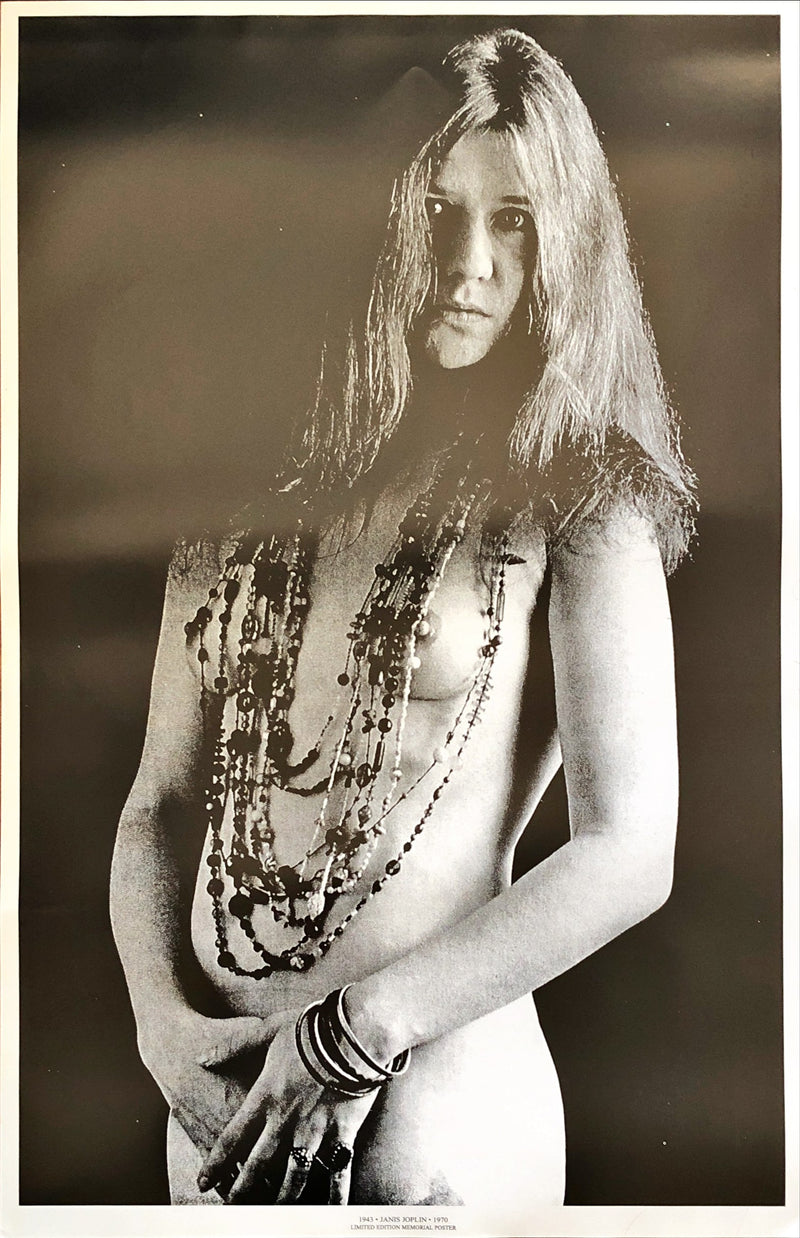 Janis Joplin - Limited Edition Memorial Poster 1943-1970 (58.7x88.7cm)