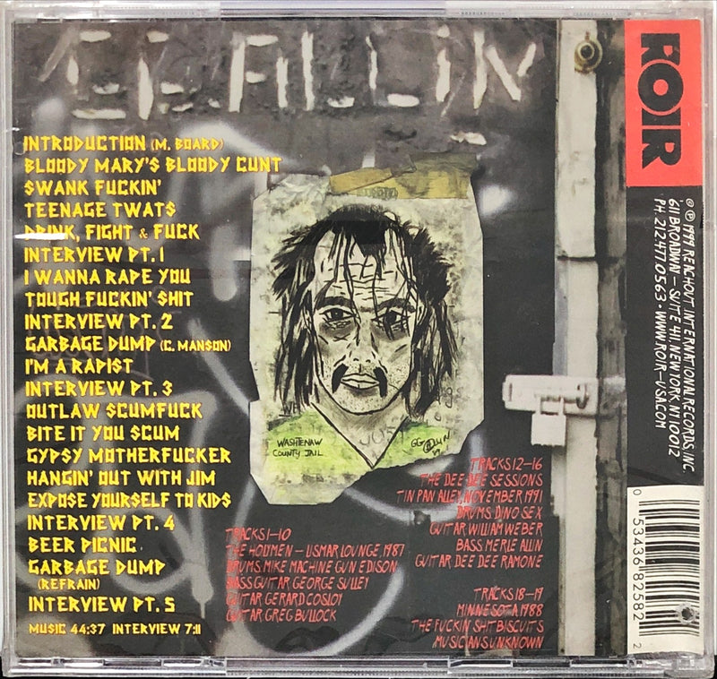 GG Allin - Res-Erected (CD)
