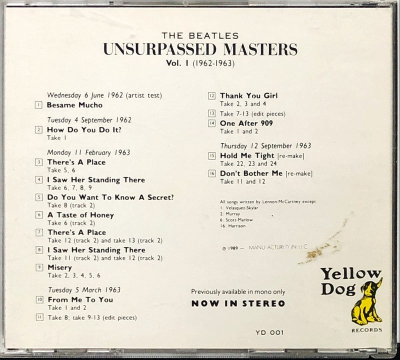 The Beatles - Unsurpassed Masters Vol. 1 (1962-1963) (CD)(Unofficial)
