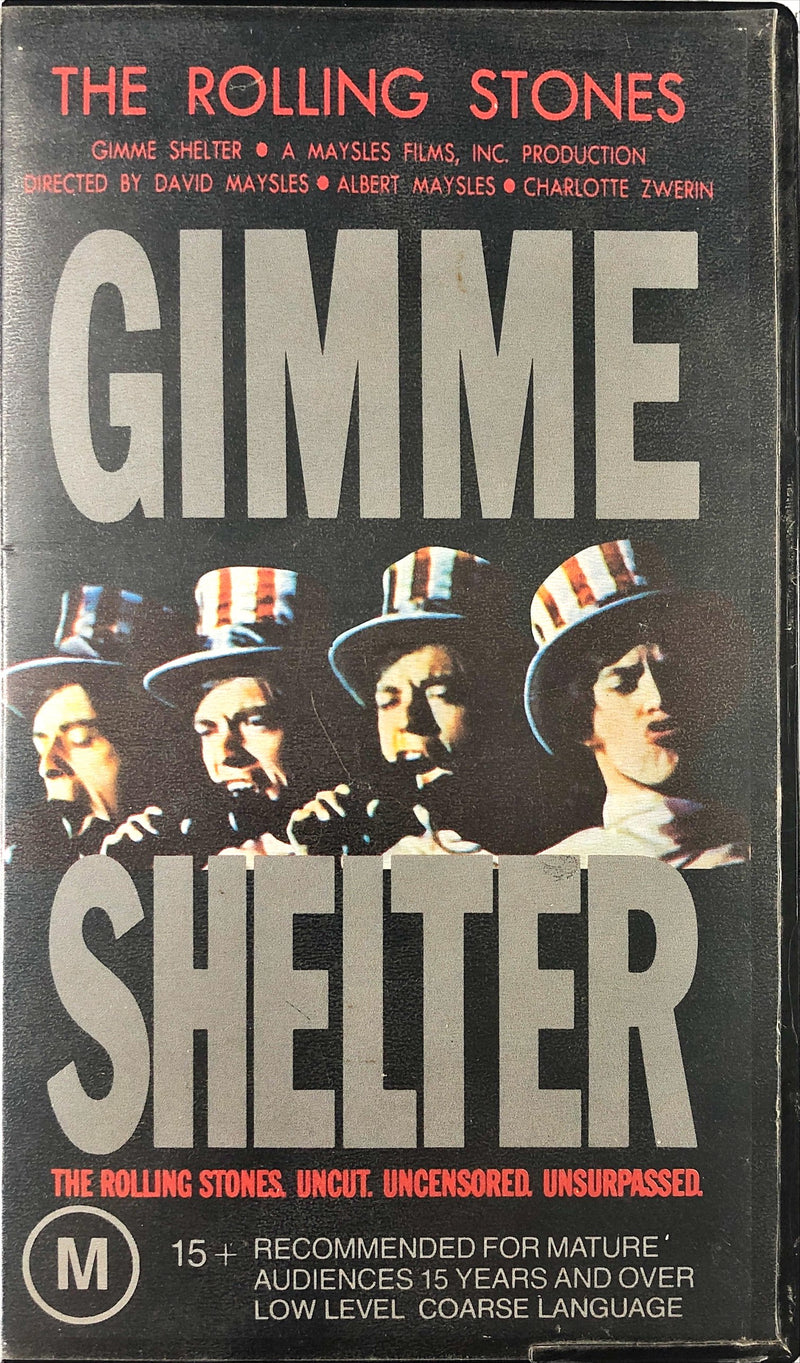 The Rolling Stones - Gimme Shelter (VHS)