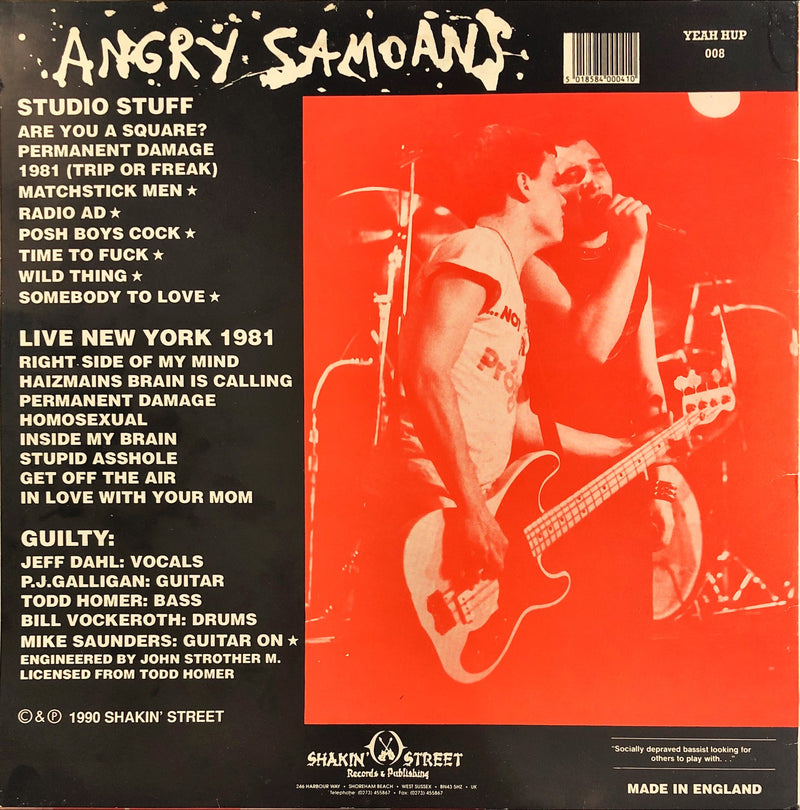 Angry Samoans With Jeff Dahl - Return To Samoa (Out-Takes/Lost Tapes)(Vinyl LP)