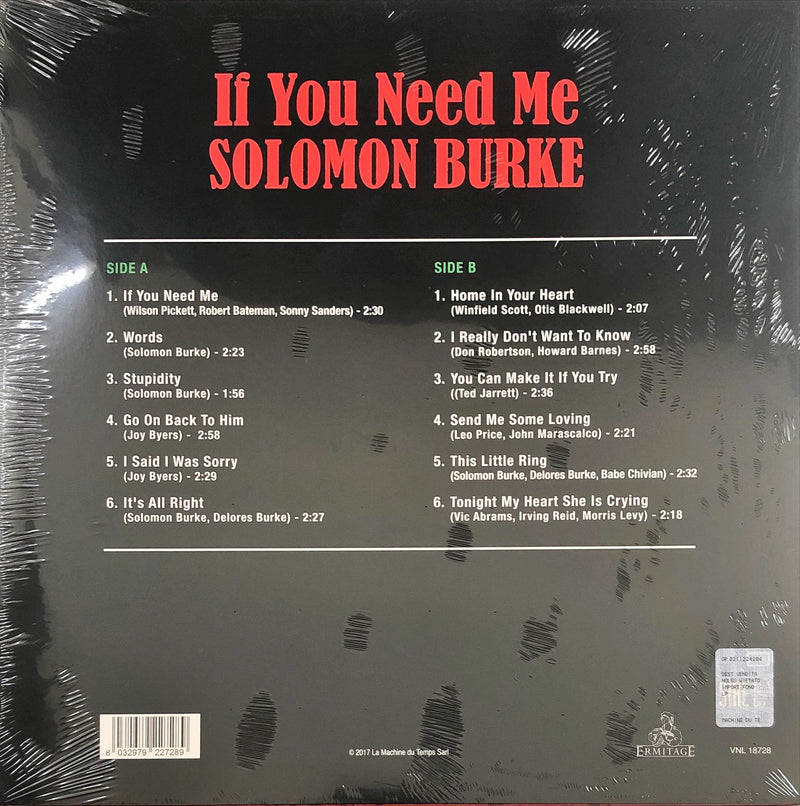Solomon Burke - If You Need Me (Vinyl LP)(180g Reissue)(Unofficial)